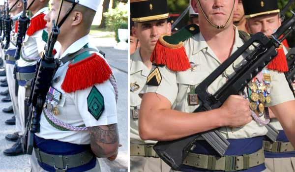 French Foreign Legion parade dress summer uniform detail