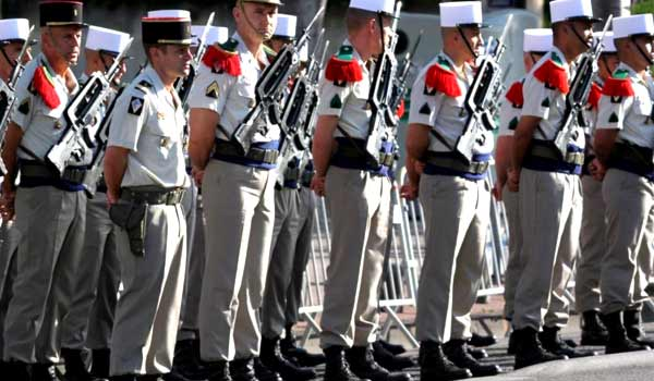 French Foreign Legion parade dress summer uniform
