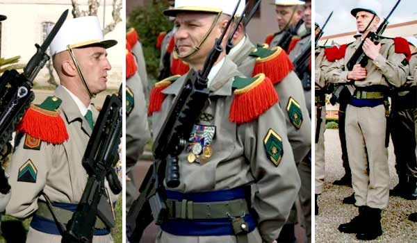 French Foreign Legion parade dress winter uniform