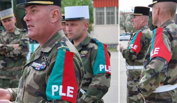 French Foreign Legion military police uniform