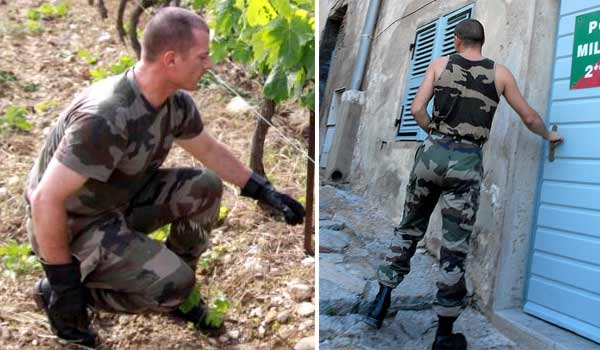 Camouflage T-shirt and undershirt of the French Foreign Legion